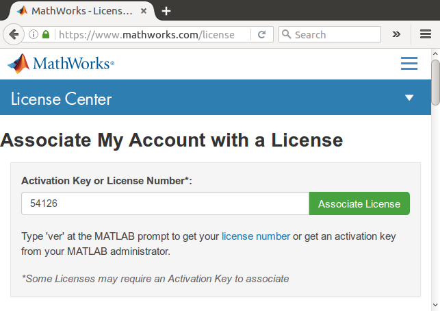 Associate License with license number